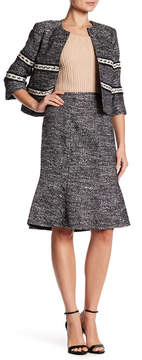Ellen Tracy Seamed Flounce Skirt