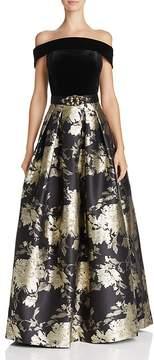 Eliza J Off-the-Shoulder Gown