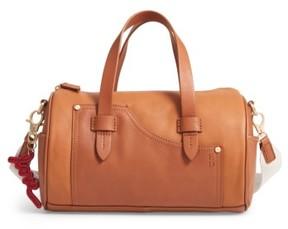 Ed Ellen Degeneres Mini Carml Leather Barrel Bag - Brown