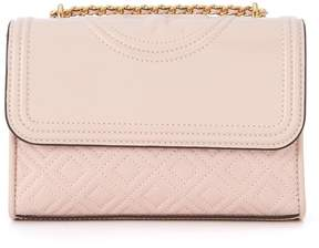 Tory Burch Fleming Small Pink Leather Shoulder Bag - ROSA - STYLE