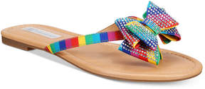 INC International Concepts I.n.c. Women's Mabae Bow Flat Sandals, Created for Macy's Women's Shoes
