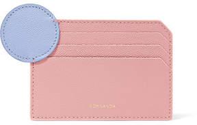 Roksanda Two-tone Textured-leather Cardholder - Blush