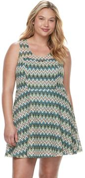 Candies Candie's Juniors' Plus Size Candie's® Chevron Skater Dress