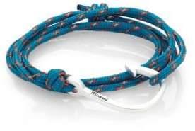 Miansai Hook Rope Wrap Bracelet/Silvertone
