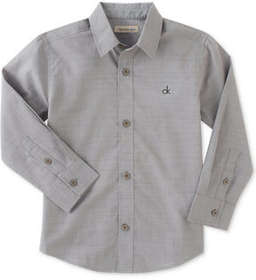 Calvin Klein Chambray Cotton Shirt, Big Boys (8-20)