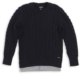 Diesel Boy's Klipo Cable-Knit Sweater