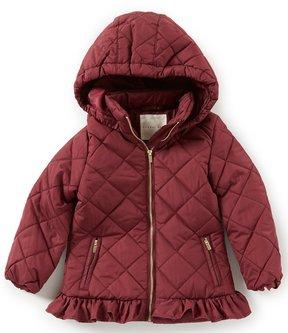 Copper Key Little Girls 2T-6X Peplum Puffer Jacket