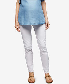 Articles of Society Maternity White Wash Skinny Jeans