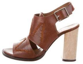 Thakoon Leather Cutout Sandals