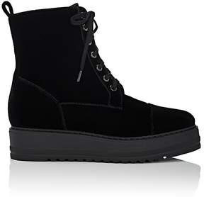 Barneys New York Women's Velvet Platform-Wedge Ankle Boots