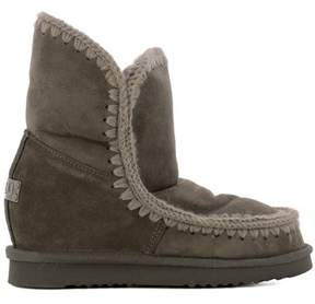 Mou Women's Brown Leather Ankle Boots.