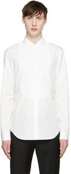 Maison Margiela White Crinkled Panel Tuxedo Shirt
