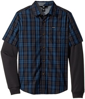 Volcom Ignition Twofer Boy's Long Sleeve Button Up