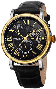 Akribos XXIV Mens Black Bracelet Watch-A-1003ygbk