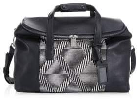 Emporio Armani Textured Leather Travel Bag