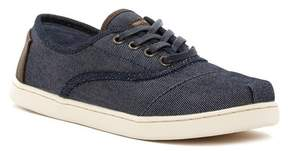 Toms Cordones Dark Denim Sneaker (Little Kid & Big Kid)