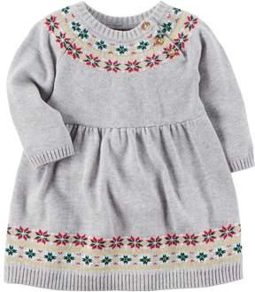 Carter's Baby Girl Holiday Fairisle Dress