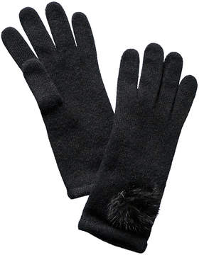 Portolano Black Cashmere Gloves