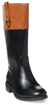 Ralph Lauren Mesa Two-Tone Riding Boot Black/Tan Tumbled 4