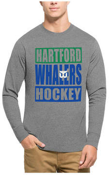 '47 Men's Hartford Whalers Stacked Club Long Sleeve T-Shirt