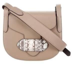 Michael Kors Python-Trimmed Daria Saddle Bag