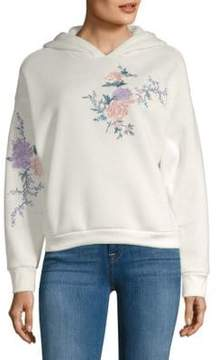 C&C California Embroidered Floral Fleece Jacket