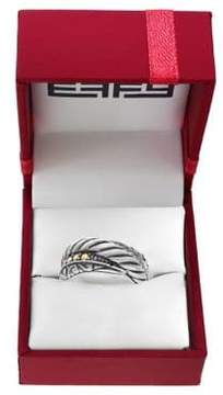 Effy Diamonds, 925 Sterling Silver and 14K Yellow Gold Ring