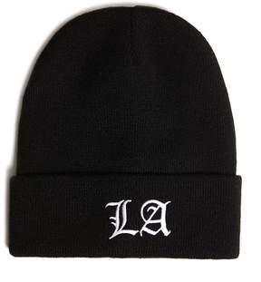 21men 21 MEN Men Ribbed LA Beanie