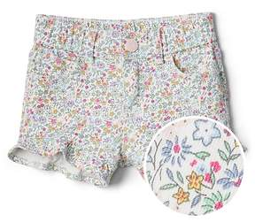 Gap 3 Floral Shorty Shorts with Flutter Cuffs in Stretch