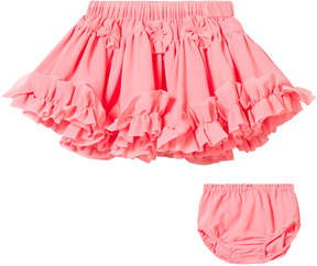 Lili Gaufrette Coral Tiered Skirt with Briefs