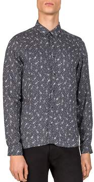 The Kooples Guitar Notes Slim Fit Button-Down Shirt