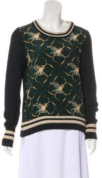 Bouchra Jarrar Silk-Paneled Alpaca Sweater