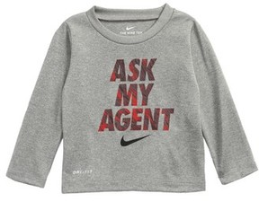 Nike Infant Boy's Ask My Agent Dry Graphic T-Shirt