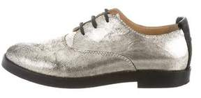 MM6 MAISON MARGIELA MM6 Maison Martin Margiela Metallic Leather Oxfords
