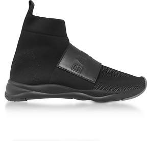 Balmain Black Nylon and Leather Cameron Running Men's Sneakers