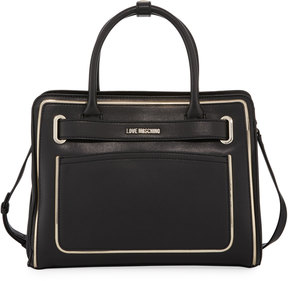 Love Moschino Faux-Leather Belted Tote Bag
