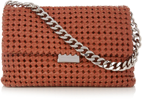 STELLA MCCARTNEY Becks medium woven faux-leather shoulder bag