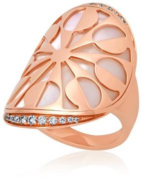 Bvlgari 18K Rose Gold Intarsio Ring- Size 6.5