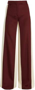 Valentino Wide-leg low-waist stripe tailored trousers