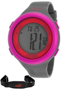 Puma Unisex Fit Grey/Pink Heart Rate Monitor Digital Watch PU910961004
