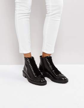 Asos AMELL Leather Lace Up Ankle Boots