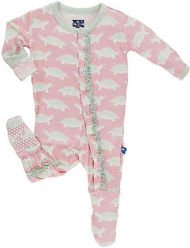 Kickee Pants Turtle Ruffle Footie
