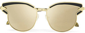 Karen Walker Superstars Felipe Cat-eye Gold-tone Mirrored Sunglasses