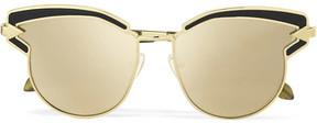 Karen Walker Superstars Felipe Cat-eye Gold-tone Mirrored Sunglasses