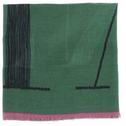 Valentino Men's Green Modal Scarf.