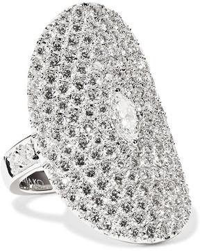 Anita Ko Saddle 18-karat White Gold Diamond Ring