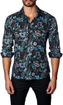 Jared Lang Men's Botanical Cotton Sportshirt