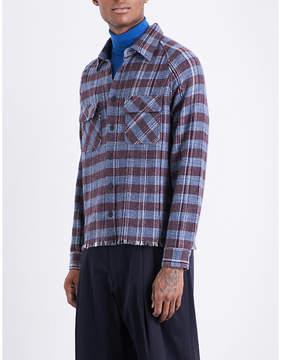 Missoni Frayed-hem checked regular-fit cashmere shirt