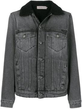CK Calvin Klein faux shearling lined denim jacket