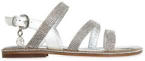 Miss Blumarine Embellished Patent Leather Sandals